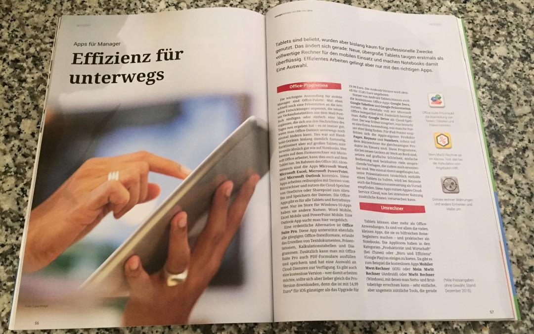 Apps für Manager: App-Experte Markus Burgdorf empfiehlt sinnvolle Apps im Beitrag für managerSeminare