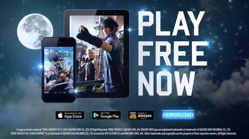 Screenshot aus dem Werbespot für Final Fantasy XV